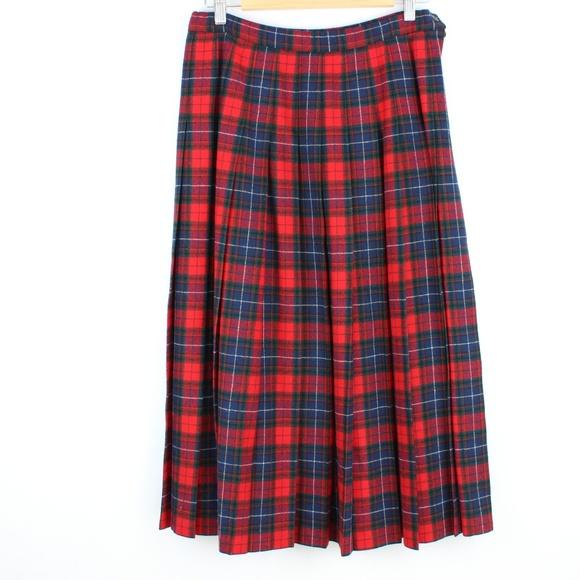 2ac977c3b4 Vintage Pendleton Wool Tartan Plaid Pleated Skirt.  M_5bd5f4232e1478691d74d608